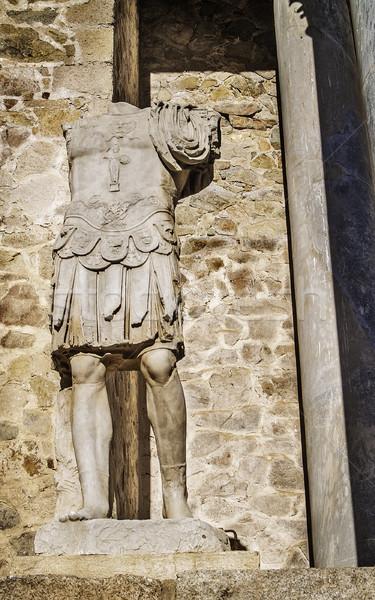 Roman theater soldier sculpture Stock photo © fxegs