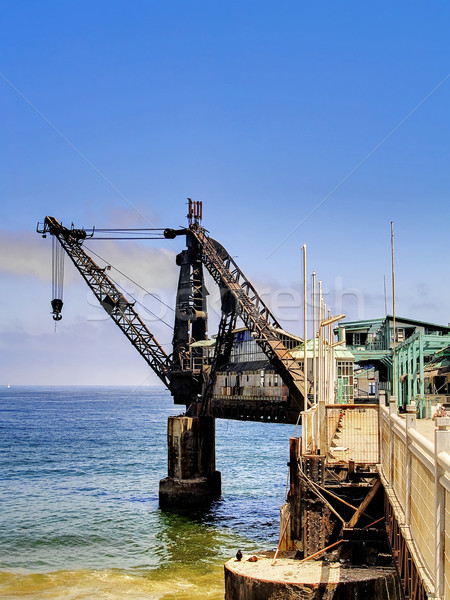 крана старые бизнеса работу моста Сток-фото © fxegs