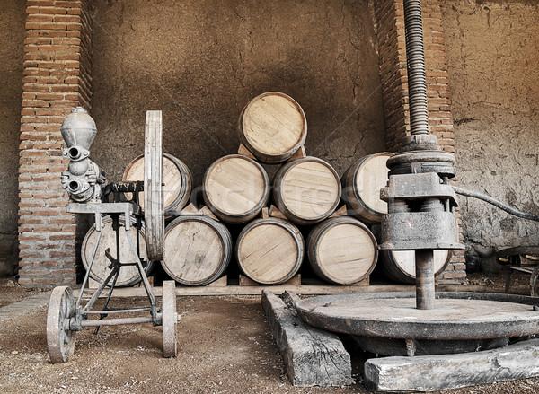 Barrels and presses Stock photo © fxegs