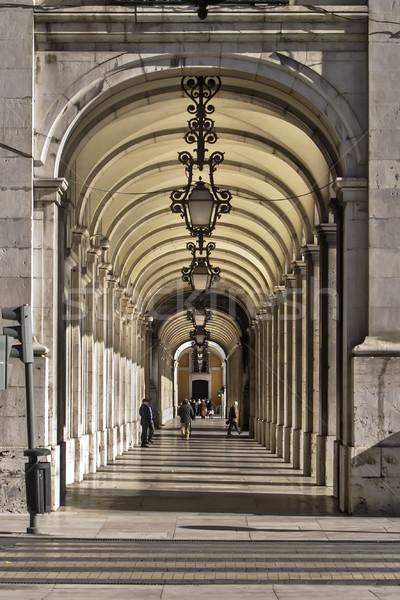 Лиссабон центра улице городского каменные архитектура Сток-фото © fxegs