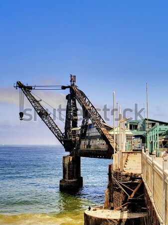 Ruined shipping crane Stock photo © fxegs