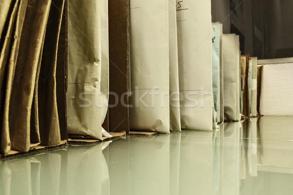 документа картона коробки внутри Сток-фото © fxegs