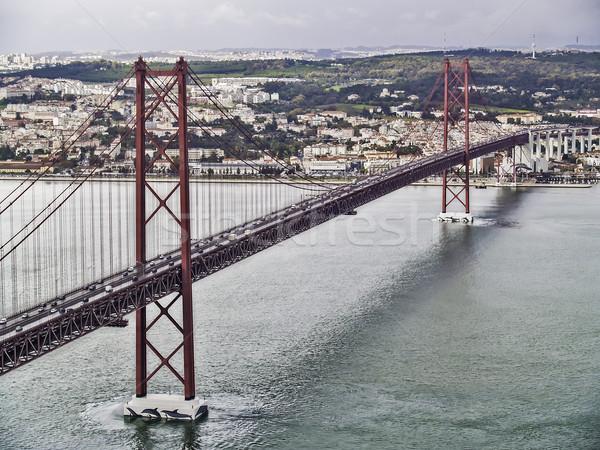 April 25 Lisbon bridge Stock photo © fxegs