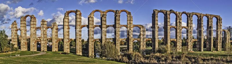Roman aqueduct in Merida Stock photo © fxegs