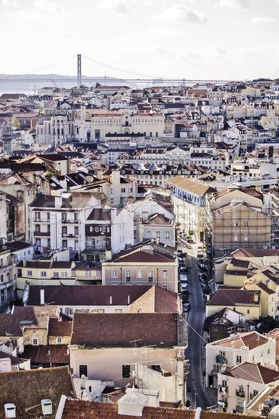 Lisbon general view Stock photo © fxegs