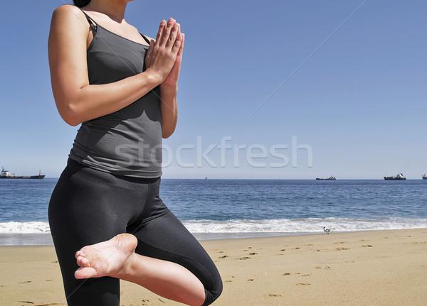 Bikram yoga tadasana pose Stock photo © fxegs