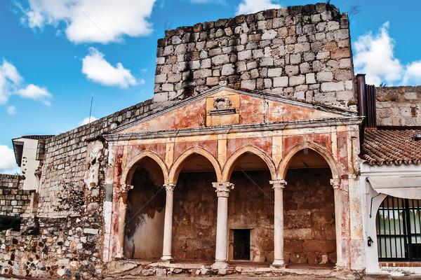 Christian monastery on fortress Stock photo © fxegs
