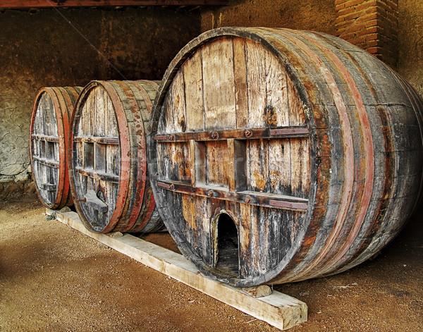 Wine barrels Stock photo © fxegs