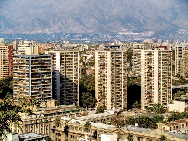 зданий мнение Сантьяго Чили город современных Сток-фото © fxegs