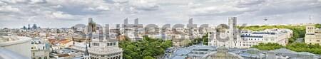 Мадрид мнение центр Испания важный зданий Сток-фото © fxegs