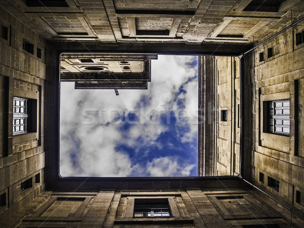 El Escorial Monastery courtyard Stock photo © fxegs