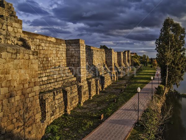 стен арабских крепость 2012 реке Испания Сток-фото © fxegs