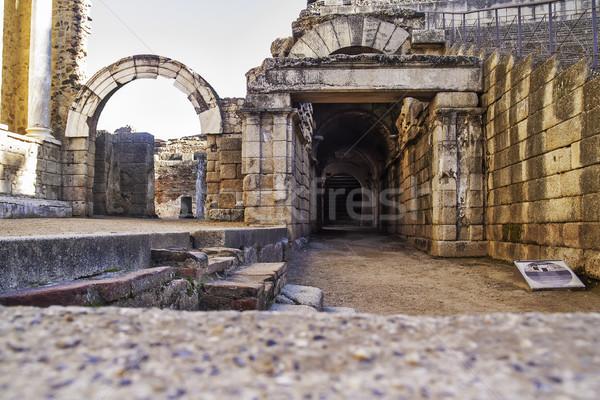Romana teatro galleria 2012 rovine regione Foto d'archivio © fxegs
