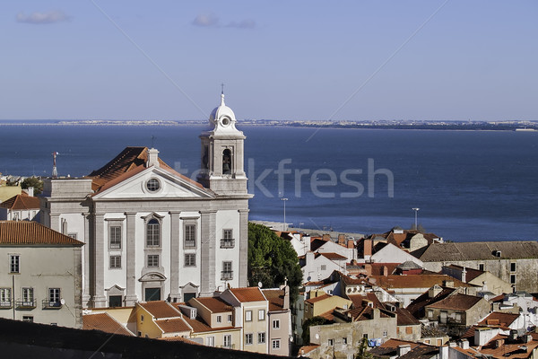 Church and river in Lisbon Stock photo © fxegs
