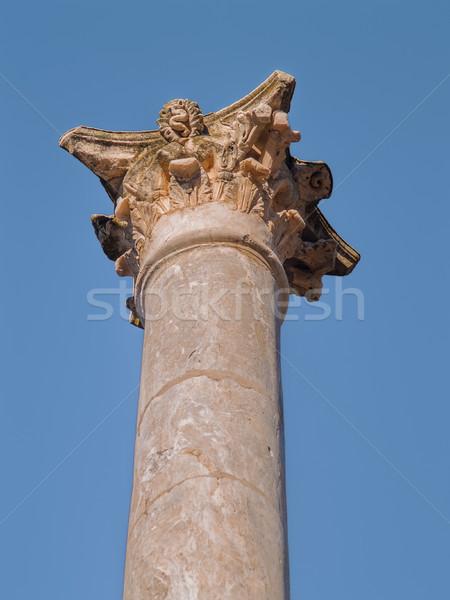 Roman theater column capital Stock photo © fxegs