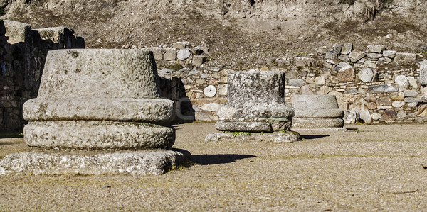 Roman ruins columns pedestals Stock photo © fxegs