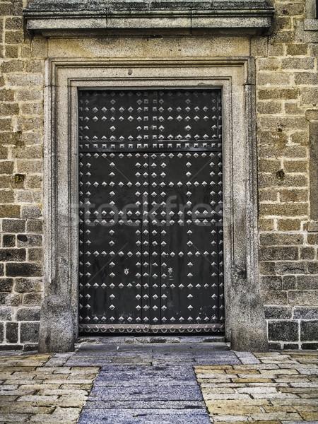 Klooster kant deur 2012 koninklijk zitting Stockfoto © fxegs