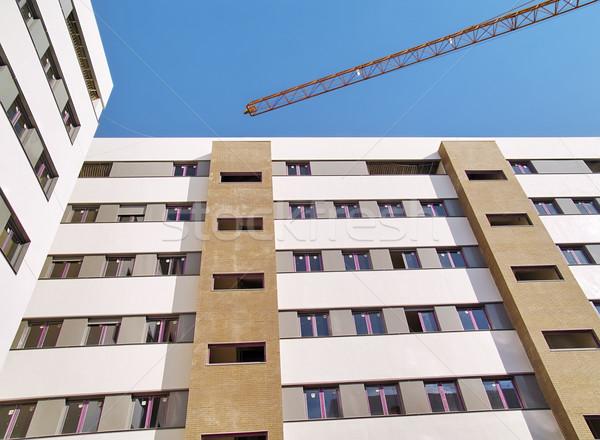 Сток-фото: строительство · новых · здании · работу · окна · городского