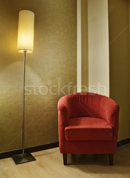 лампы кресло удобный комнату дома Сток-фото © fxegs