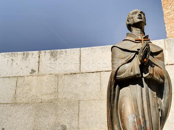 Priester standbeeld spaans san juan la Stockfoto © fxegs
