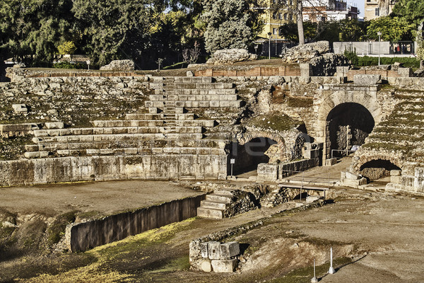 Roman amphitheater in Merida Stock photo © fxegs