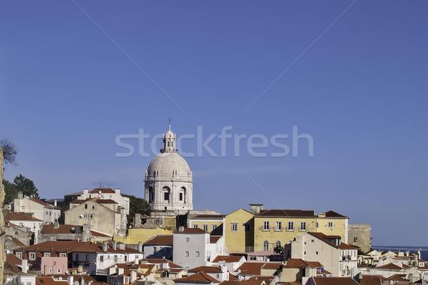 Lissabon 2012 wijk huizen mausoleum Stockfoto © fxegs