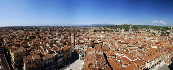 Verona grande panorama belo italiano cidade Foto stock © fyletto