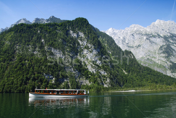 Boat and Alps Stock photo © fyletto