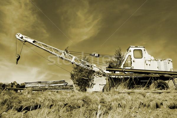 старые крана ржавые монохроматический сепия Сток-фото © fyletto