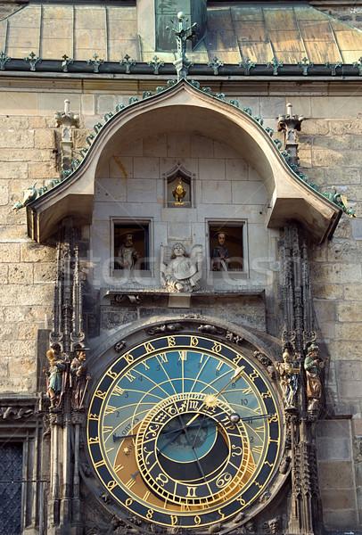 астрономический часы Прага известный старый город квадратный Сток-фото © fyletto