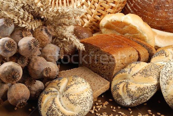 Bakkerij vers gebakken goederen tarwe Stockfoto © fyletto