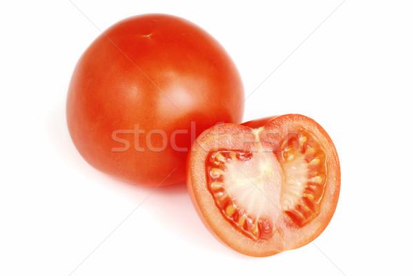 Tomaat vers Rood plakje geïsoleerd voedsel Stockfoto © fyletto