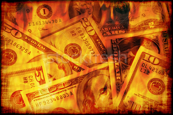 US money burning  Stock photo © fyletto