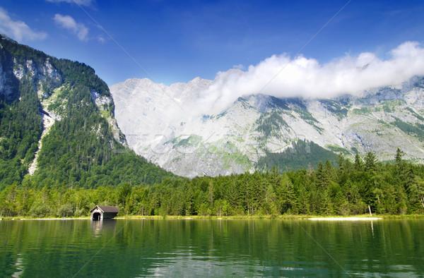 湖 ドイツ 有名な 表示 アルプス山脈 ストックフォト © fyletto