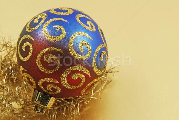 Navidad pelota hermosa colorido cadena dorado Foto stock © fyletto