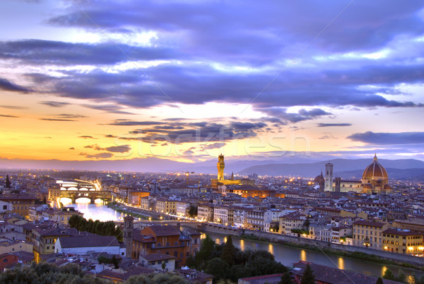 Sunset in Florence Stock photo © fyletto