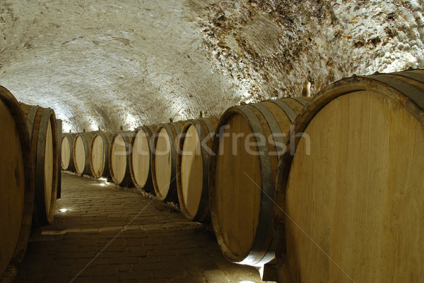 Bodega edad vino bar beber luces Foto stock © fyletto
