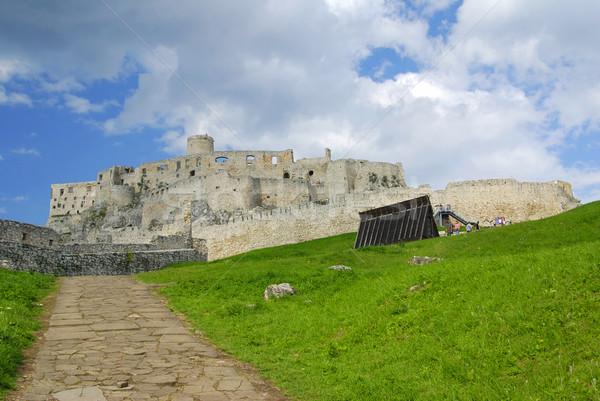 замок древних трава каменные архитектура пути Сток-фото © fyletto