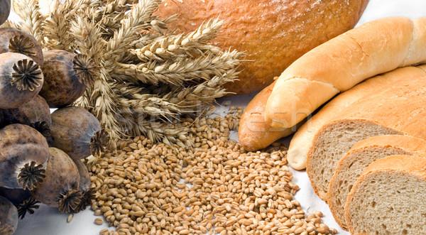 Cereales aislado cereales panadería productos blanco Foto stock © fyletto