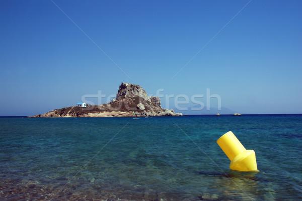 島 ブイ 有名な チャペル ギリシャ語 空 ストックフォト © fyletto