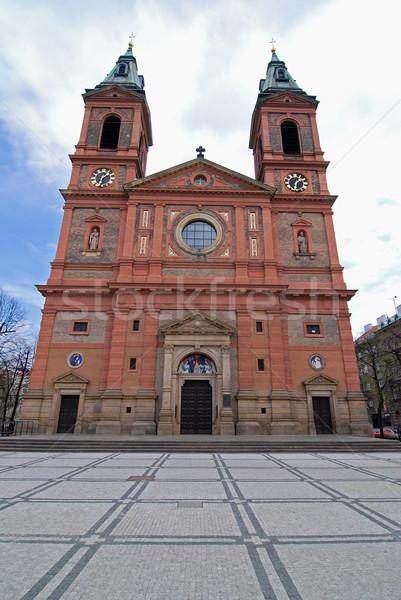 Katedry Praha średniowiecznej kościoła Czechy budynku Zdjęcia stock © fyletto