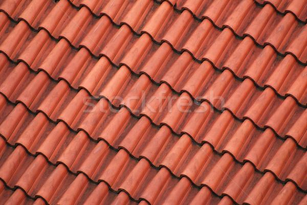 красный крыши старые плитки диагональ дома Сток-фото © fyletto