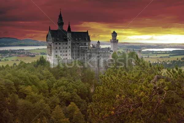 Castle Neuschwanstein Stock photo © fyletto