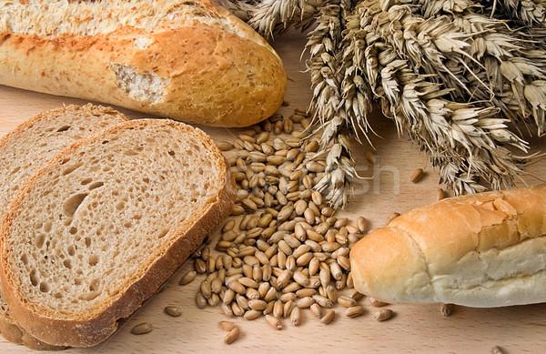 хлебобулочные различный продукции древесины пшеницы ушки Сток-фото © fyletto