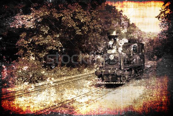 Velho trem antigo vintage ferrovia Foto stock © fyletto