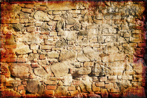 Grunge old wall Stock photo © fyletto