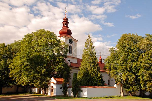Kościoła kraju piękna barokowy mały miasta Zdjęcia stock © fyletto