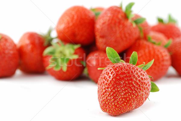 многие клубники плодов изолированный белый из Сток-фото © fyletto