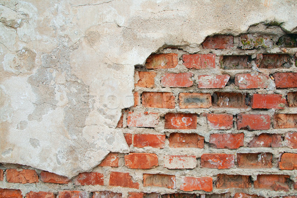 Old cracked wall Stock photo © fyletto