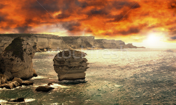 побережье красивой Корсика захватывающий каменные Сток-фото © fyletto